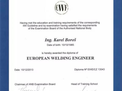 European Welding Enginner